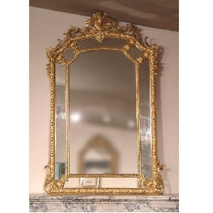 miroir de chemin e style louis xvi pictures to pin on pinterest. Black Bedroom Furniture Sets. Home Design Ideas