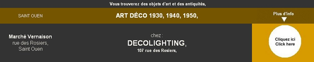 art deco 1930, art deco 1940, art deco 1950, Decolighting,