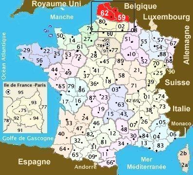 carte de france nord pas de calais