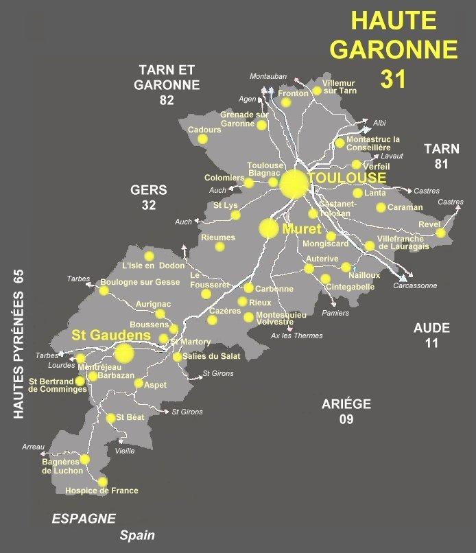 Leboncoin 31 Haute Garonne : carte de la haute garonne 31 localit s art antiquit s ~ Dailycaller-alerts.com Idées de Décoration