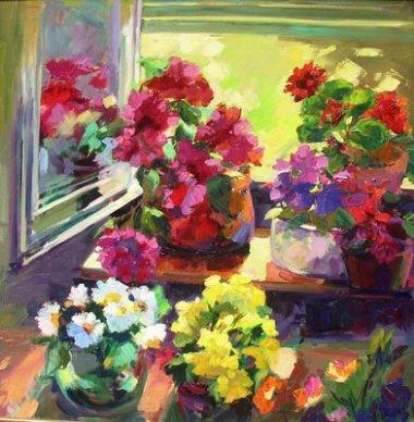 Anne balas artiste peintre galerie d 39 art kallist 21 for Devant la fenetre