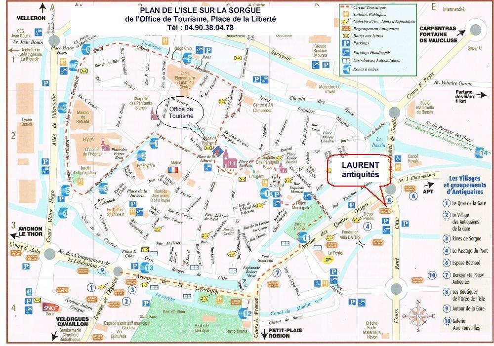 Plan de l isle sur sorgue - Isle sur la sorgue office de tourisme ...