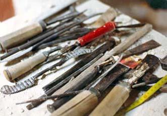 Sculpteur petrus taille directe la taille directe en sculpture - Outils pour sculpter le bois ...